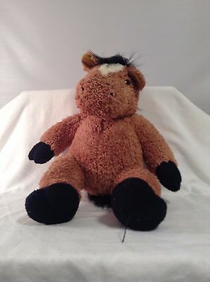 Bear Factory Plush HOrse Brown with Black CUTE VGC 15""