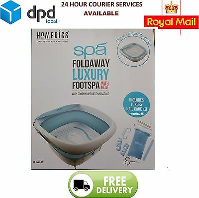 Homedics Foldaway Luxury Footspa with Heat & Soothing Vibrating Massage FB-350CC