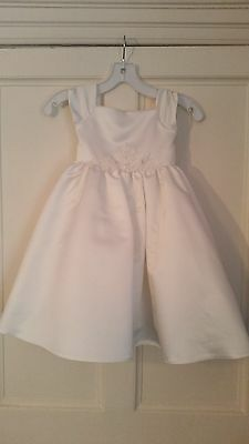 Designer dress (Ivory-Age 3-4) Flowergirl, Prom, Party, Special Day, RRP £100+