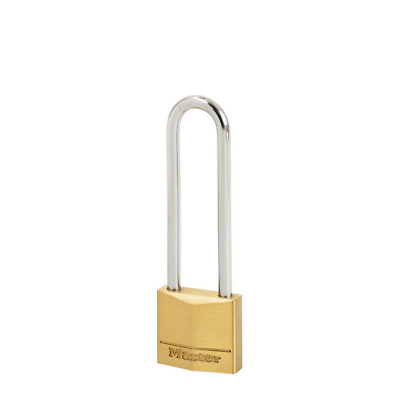 150EURD Master Lock Schloss aus massivem Messing 50mm Bügel 25mm D 7mm