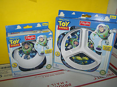 New Playtex Kids Toddler Baby Disney Toy Story bowl and plate - BPA FREE