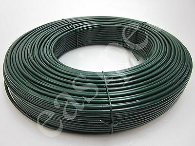 PVC Coated Tension Straining Line Wire Galvanised Steel 100m x 3.1mm for Fencing