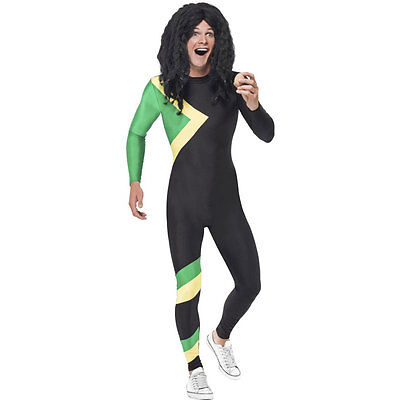 Adult Jamaican Bobsleigh Team 90s Bobsled Sports Stag Fancy Dress Costume 21389