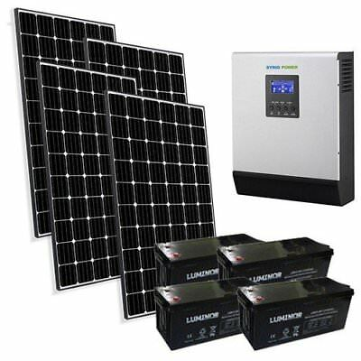 Solar Kit Pro 3kW 48V for House Photovoltaic System Off-Grid Accumulation