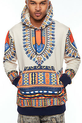 Mens Hipster African Swag Dashiki Print Fashion Traditional Hoodie Jacket 030414