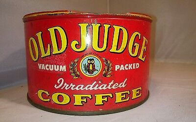 Old Judge Coffee Can vtg coffee KEY CAN 1lb St. Louis cafe decor kitchen tin