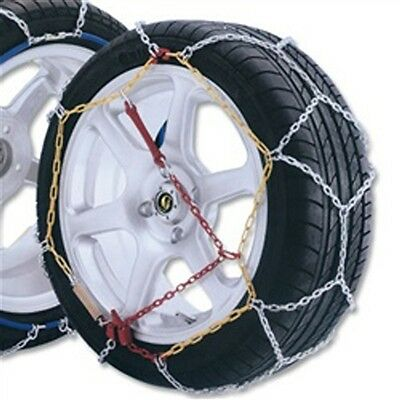 ALEKO   - One Pair Of High Quality Passenger Car Snow Chain 12mm, Size 60