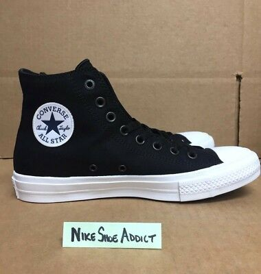 752352665487 Converse All Star Chuck Taylor CT II 2 Hi High Black White 150143C Lunarlon  top