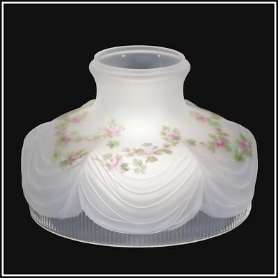 FLORAL GARLAND DRAPE SHADE fits ALADDIN COLEMAN MILLER RAYO ROCHESTER OIL LAMP