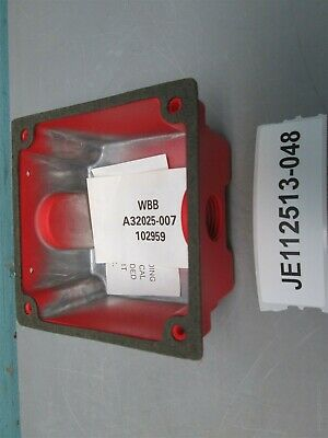Lot of 2, Wheelock Weather Proof RED Backbox, WBB 102959 AQ32025-007