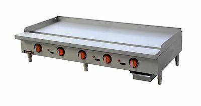 """NEW Heavy Duty Stainless Steel 60"""" Thermostat Gas Griddle, SIERRA SRTG-60"""