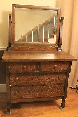 Antique Mount Airy Early 1900s Dresser with Mirror