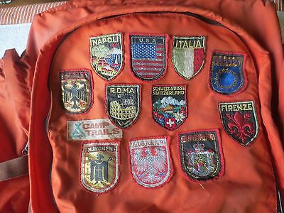 Vintage Souvenir Travel Patches Lot (11) Patches Europe Germany, France, Italy