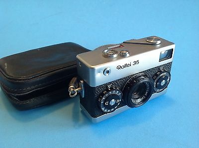 Vintage Rollei 35 camera Zeiss Tessar lens UNTESTED As Is