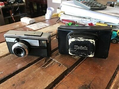 Kodak Instamatic 250 Camera Made In Germany With Case Vintage Old Film