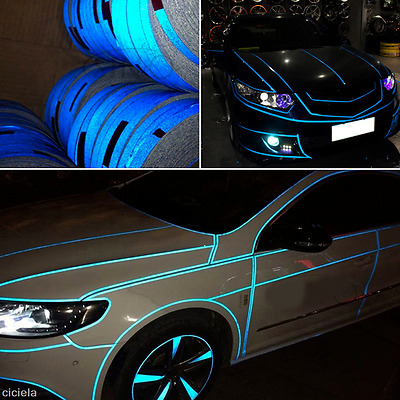 1Roll Car Styling Joint Strip Sticker Reflect Light Warning Body Decal Car Decor