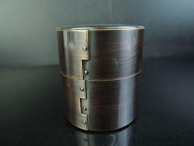 E8160: Japanese Copper Shapely TEA CADDY Chaire Container Tea Ceremony