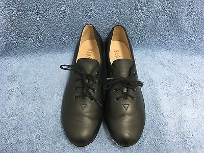 Bloch Black Leather Jazz Tap Shoes Girl's/Women's Size 9.5M Techno Taps EUC