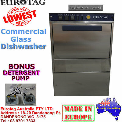 EUROTAG Commercial Undercounter GLASS Dishwasher Cafe Bar Restaurant