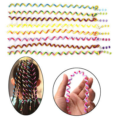 Fashion DIY Magic Circle Rainbow Roller Curler Spiral Curls Hair Styling Tool