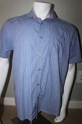 REALTREE Short Sleeve Button-Front Shirt Men's Baby Blue Size Medium