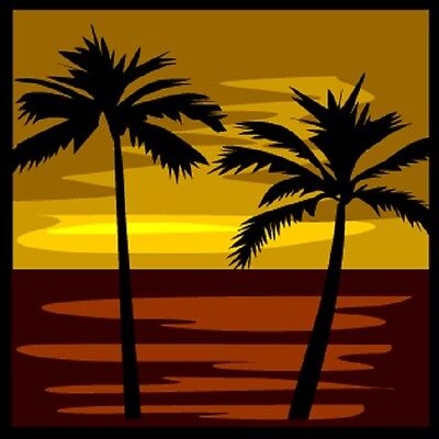 30 Custom Tropical Sundown Art Personalized Address Labels