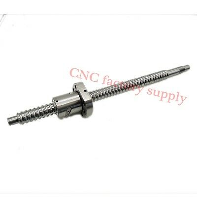 SFU1605 L1000mm rolled ball screw C7 with1605 flange single ball nut for BK/BF12