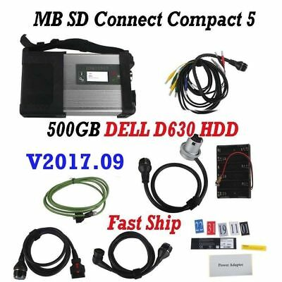 New MB SD Connect Compact 5 Star Diagnosis+ V2017.3 DELL D630 HDD Multi-Langauge