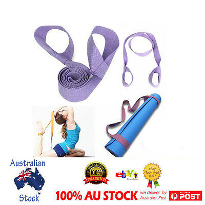 Yoga Mat Sling Carrier Shoulder Carry Strap Belt Cotton Canvas Assistant Tool OZ