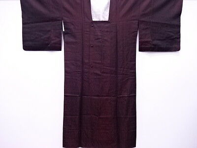 27274# Japanese Kimono / Unused Vintage Rain Coat / Woven Abstract Pattern