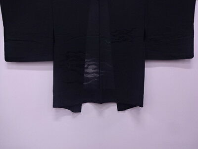 27265# Japanese Kimono / Vintage Haori For Summer / Cut Work / Mist