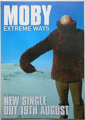MOBY Extreme Ways Rare Original Official UK Record Company Publicity POSTER