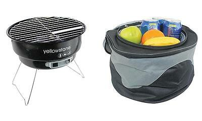 Yellowstone - BB003 - Folding Bbq With Cooler Bag