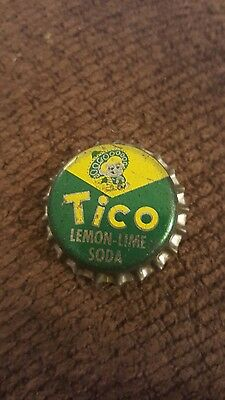 Vintage 1950's Tico Lemon Lime Unused Soda Pop Bottle Caps Cork Lined
