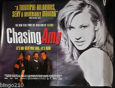 Chasing Amy Original Quad Poster Kevin Smith Joey Lauren Adams Ben Affleck 1997