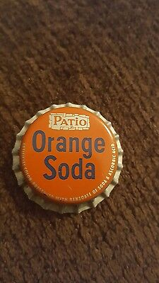 PATIO ORANGE SODA Bottle Cap Cork Lined - A Pepsi Brand
