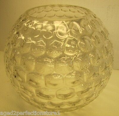 Old Bubble Glass Designed Bowl wonderful large decorative fish candy old