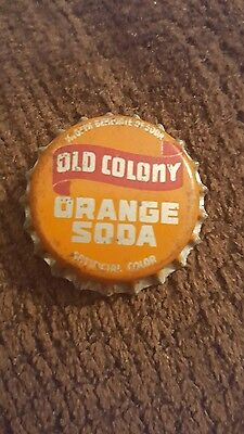 Vintage Old Colony Orange Soda Bottle Cap Cork Lined