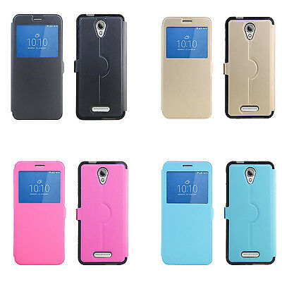 For 4G Optus X Smart Case New Fashion Cover With Window View For X Smart