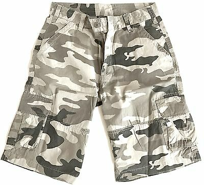 GENTS RIP-STOP COMBAT CARGO SHORTS Mens heavy duty Desert Camouflage 100% Cotton