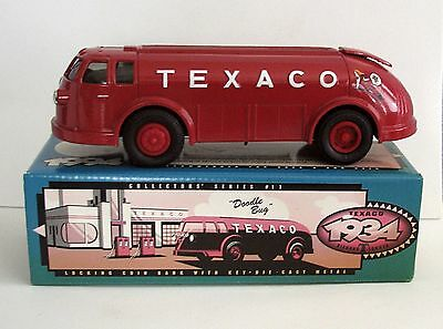 Texaco 1934 Diamond T Tanker Die Cast Metal Coin Bank ERTL