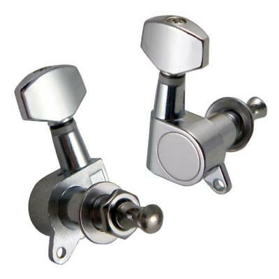 Chrome Guitar Tuning Peg Key Machine Heads Tuner for Acoustic Guitar Accs 6R