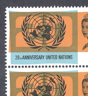 1965 GB UN 3d Stamp Pair 'LAKE in RUSSIA' Variety SG681b Unmounted MINT Re:X257A