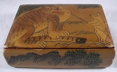 Signed Antique Lacquer Jewelry/Trinket box Chinese