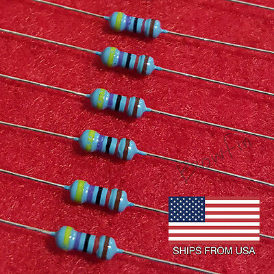 (100 Pack) 47k Ohm 1/4W Metal Film Resistor 1% - Quick & Free Shipping from USA