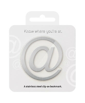 WHERE YOU'RE @ BOOKMARK - Stainless Steel Metal Book Page Marker