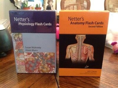 Pair, 2 Ct. Netters Physiology & Anatomy Flash Cards New Professional