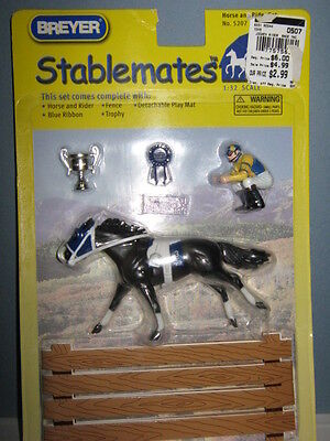 Breyer 05-06 Stablemate Horse & Rider Set Jockey with Thoroughbred - New in Box