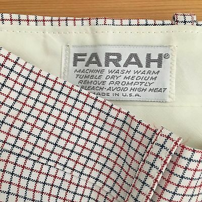 Vintage 70s Plaid Checkered Polyester Disco Golf Pleated Pants by Farah 32x30