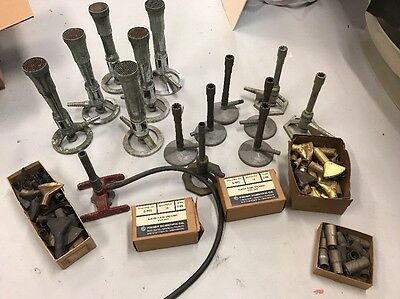 Lot Of Vintage Fisher Bunsen Burners And Flame Spreaders